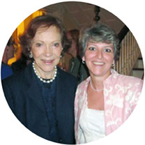Dr. Christine Jensen, Coordinator of the Virginia Caring for You Program meets with Former First Lady Rosalynn Carter in Georgia to discuss the program's impact in Virginia, October 2012.