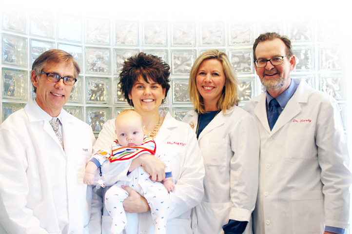(L-R) Craig Ruetzel, MD, Melissa Waddell, WHNP, Kaitlin Cafferky, WHNP, Timothy Hardy, MD